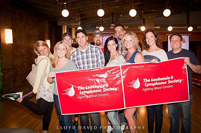 A team supporting LLS at our bowling event