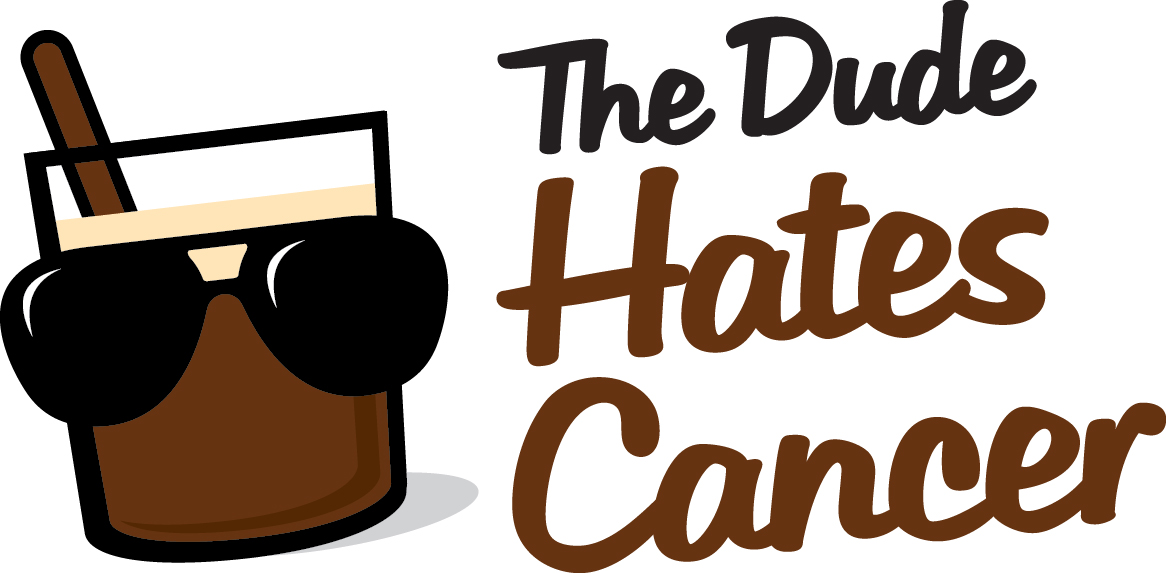 The Dude Hates Cancer Happy Hour Logo