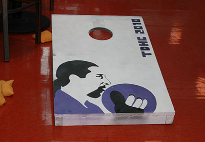 TDHC 2010 - Incredible cornhole board at the Philly tournament