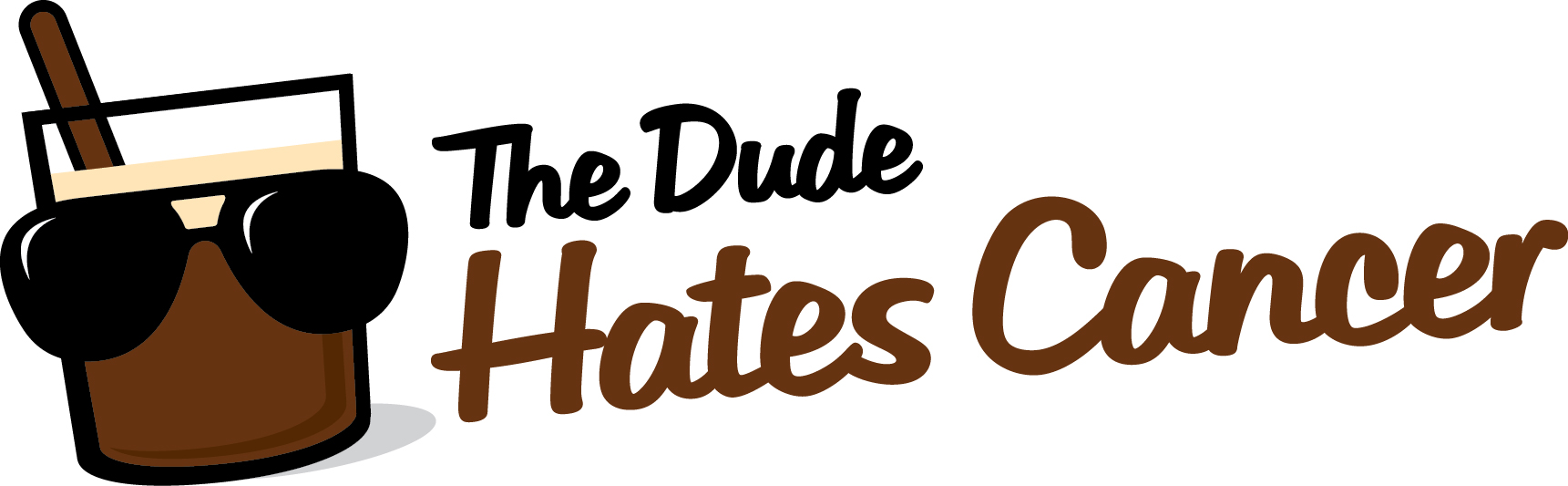 The Dude Hates Cancer Bowling Ball Logo